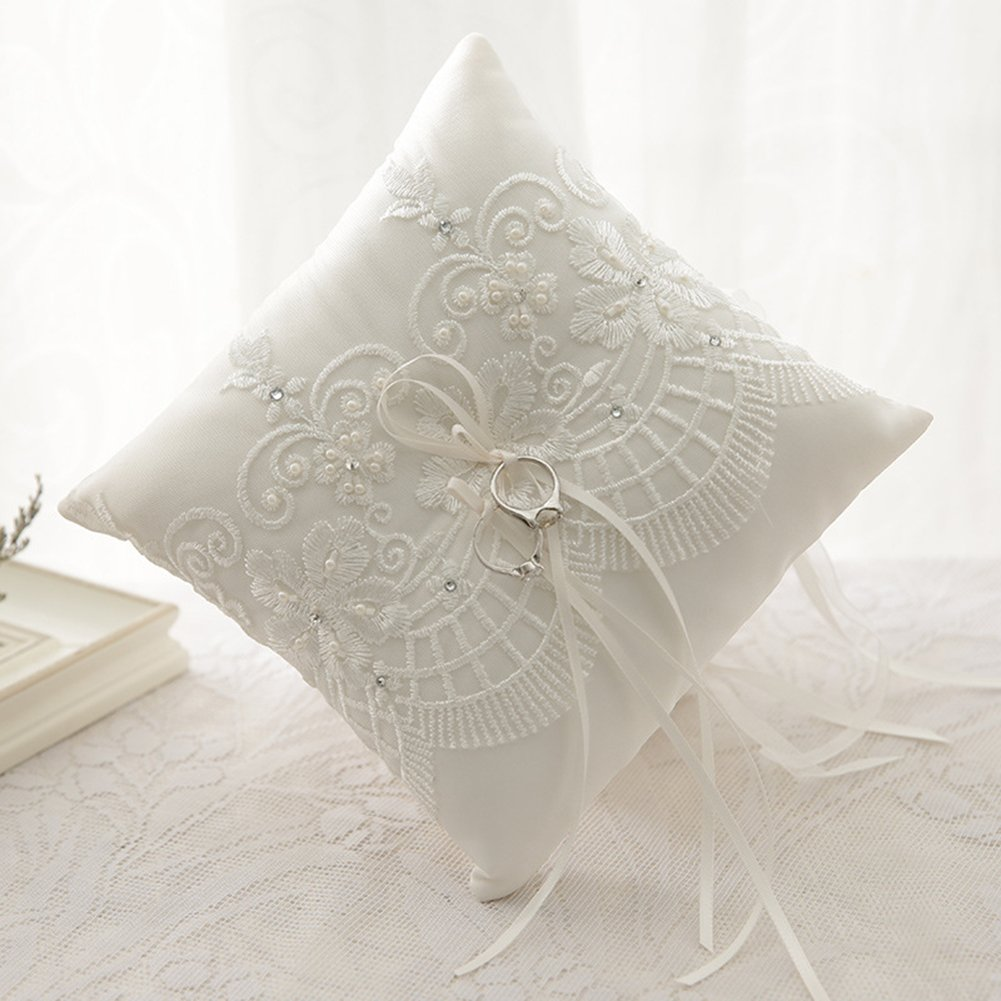 Adeeing Ring Bearer Pillow, Medium, 7.5 x 7.5 Inch