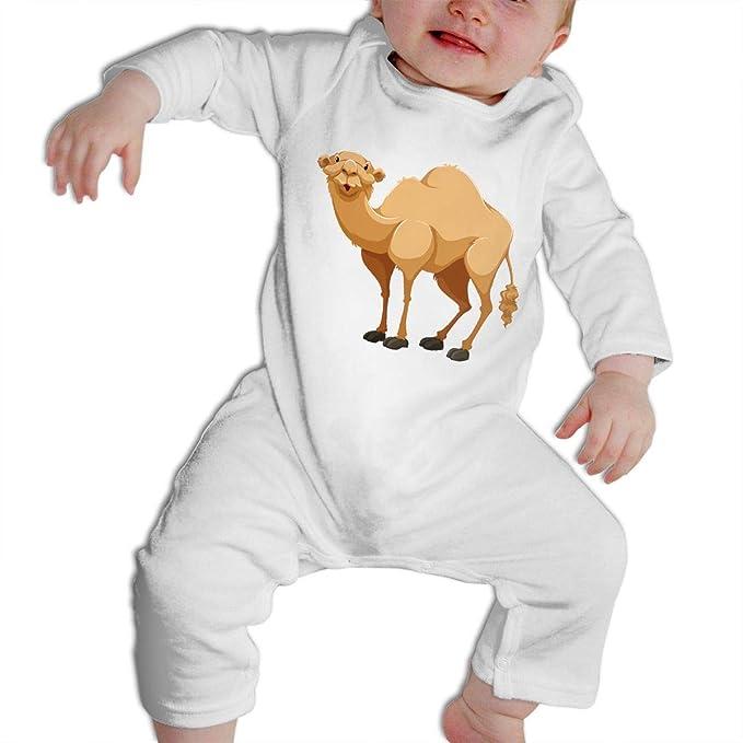 019bcf58dbd0 Amazon.com  CARRYFUTURE Cartoon Camel Long Sleeves Bodysuit Infant ...