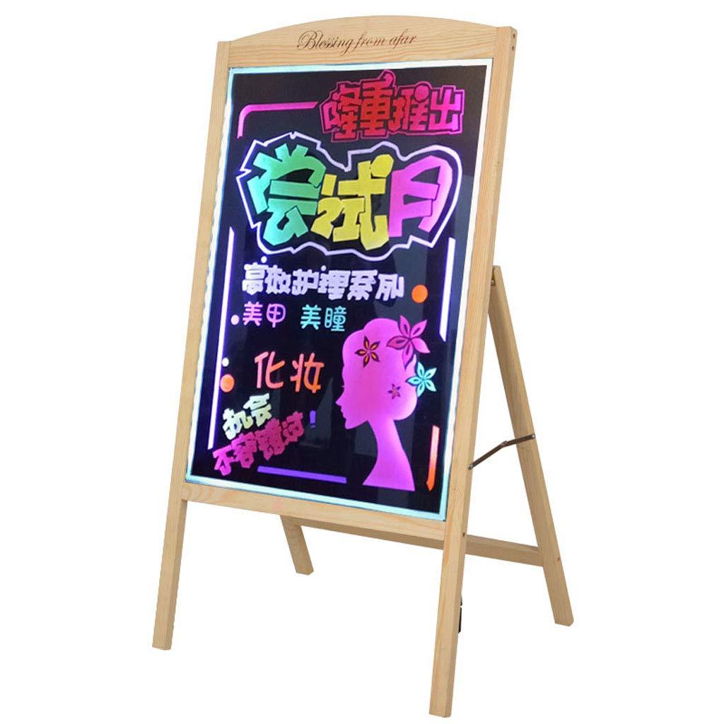 Mesurn JP カラフルなLED電子蛍光ボード、無料インストール、ログディスプレイスタンド看板手書き発光黒板広告ボード 50*70  B07MXYL2RD