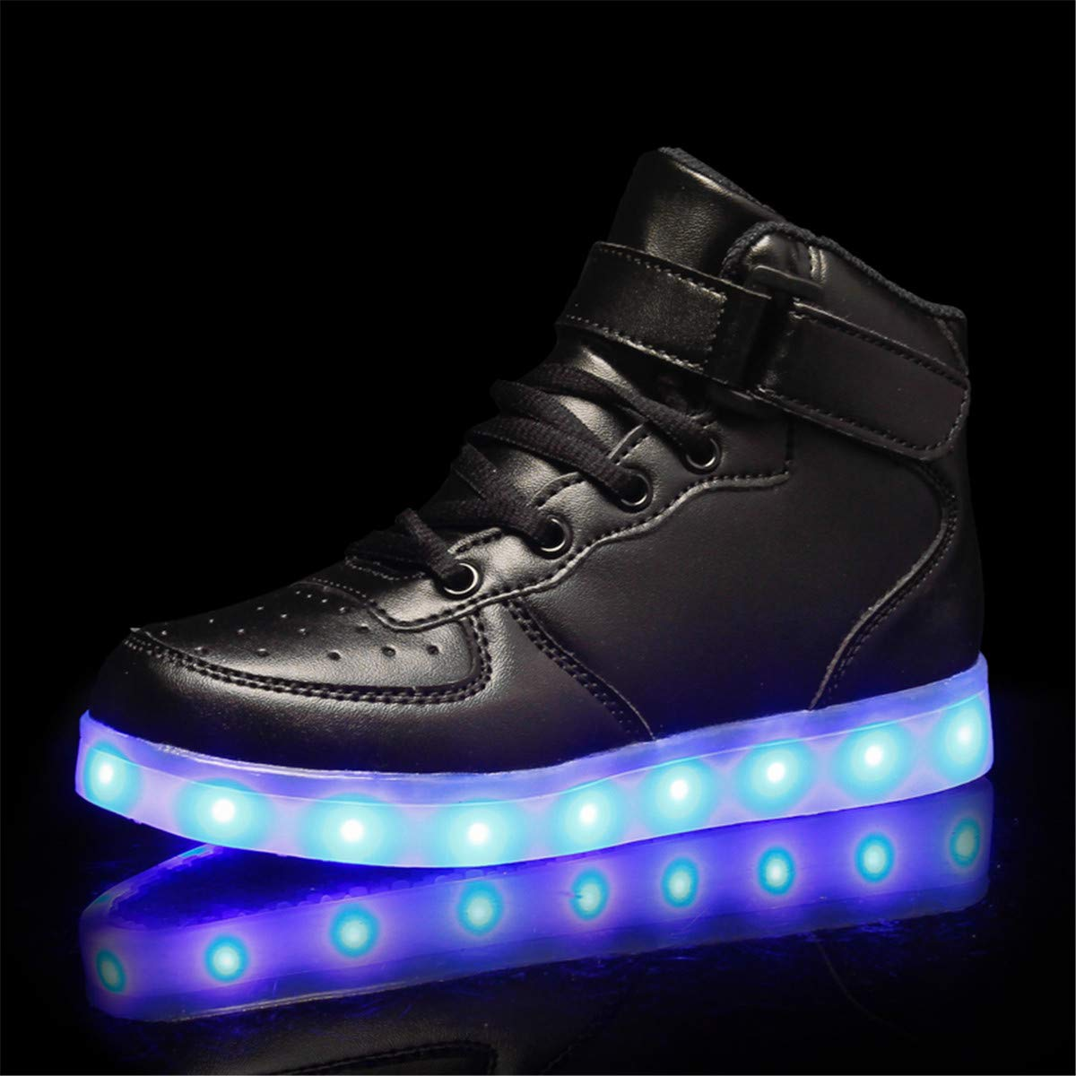 LED Chaussures Lumineuse Basket Mode Sneakers Enfants Flashing Trainers Running Brillant Antid/érapant 7 Couleurs USB Charge pour Unisexe Gar/çon Fille