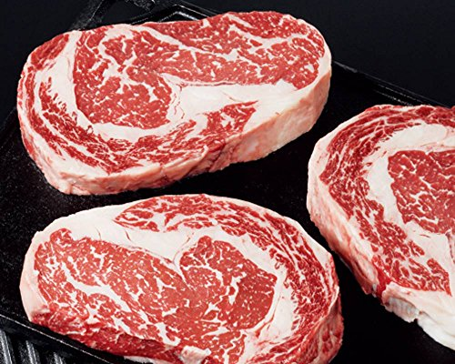 Kansas City Steaks 4 (8oz.) American Style Kobe Boneless Ribeyes