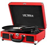 Victrola Vintage 3-Speed Bluetooth Portable Suitcase Record Player with Built-in Speakers | Upgraded Turntable Audio Sound| I