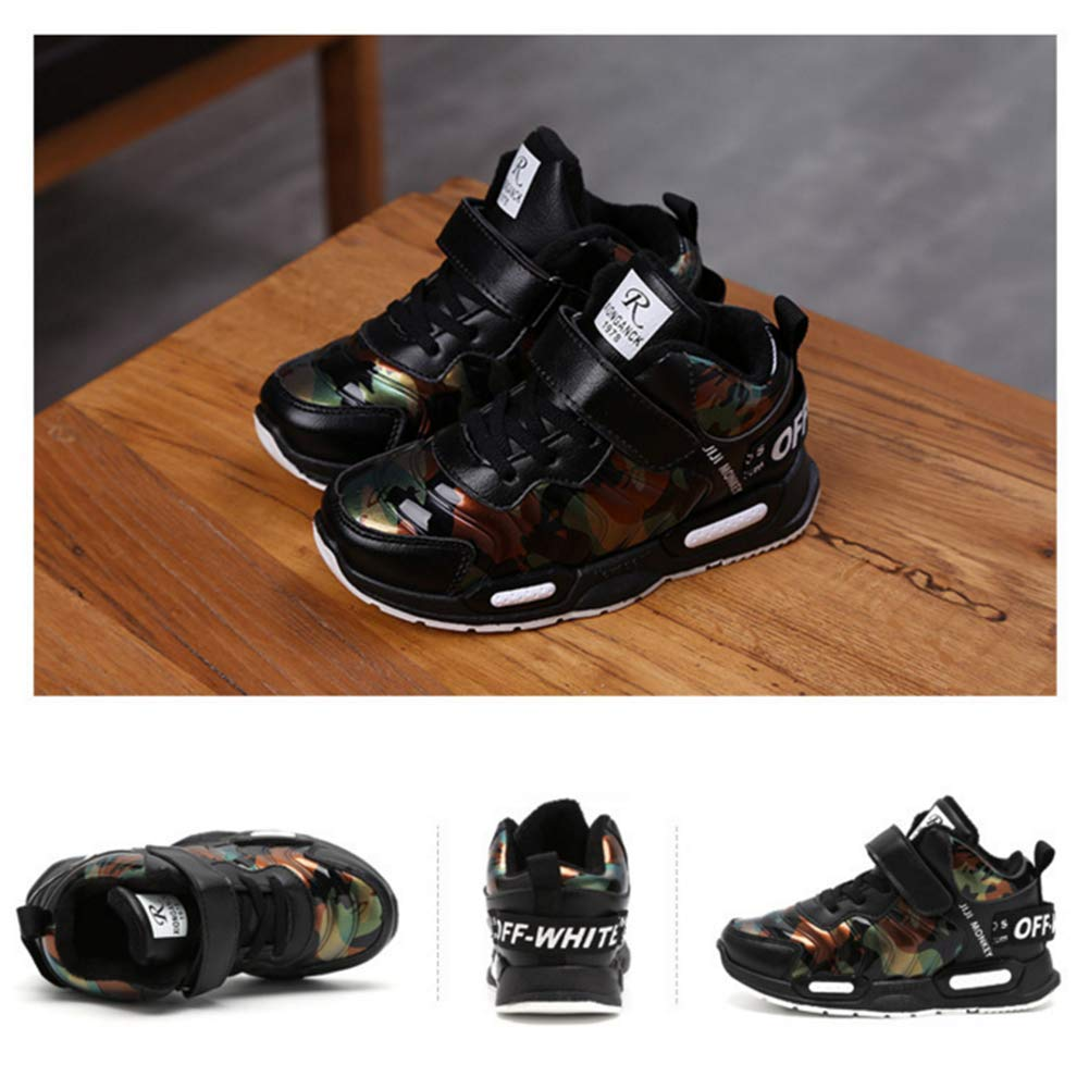 GESDY Boys Camouflage Snow Boots Winter Warm Fur Lined Anti Slip Ankle Shoes