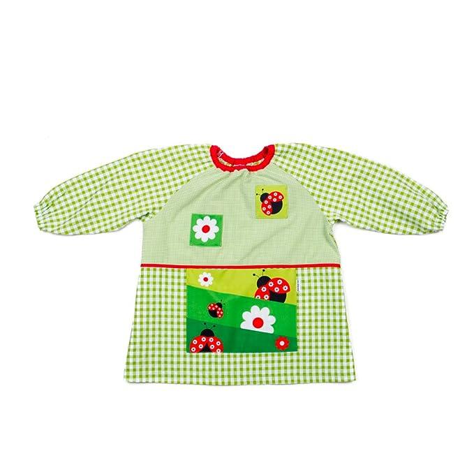 Dyneke Babi elástico verde Mariquitas (personalización opcional gratuita con nombre bordado) (Talla 0