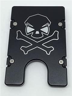 product image for HMC Billet Skull Cross Bones RFID Protection Credit Card Holder Aluminum Wallet, Black