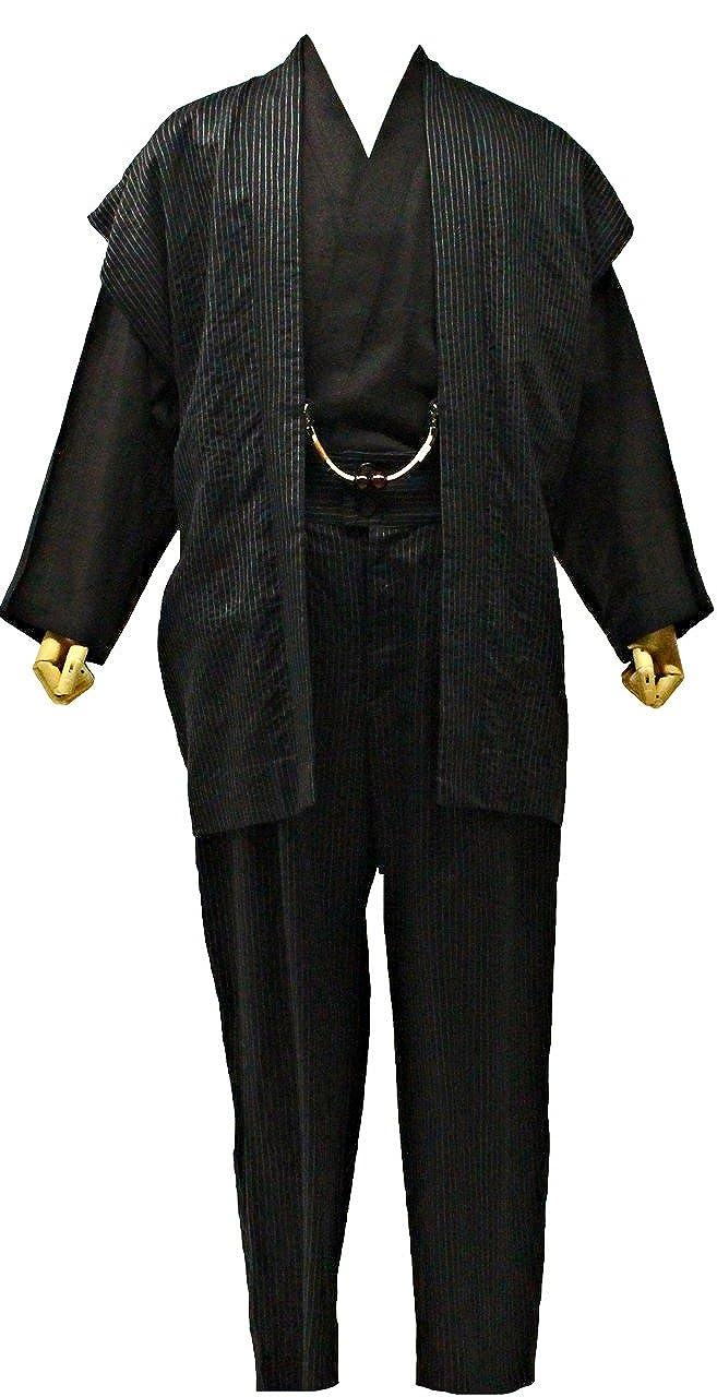 一杢 着物スーツ メンズ 夏物 黒色 Mサイズ G516 N1929 B07457LPP8
