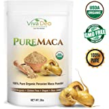 PURE Maca Powder   2lb Value Size   100% USDA Organic Raw Peruana Maca Root   Supports Memory, Mood, Energy   by Viva Deo Superfoods