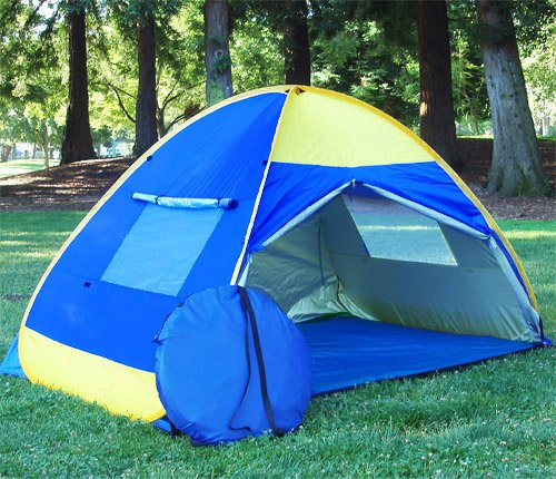 BEAUTIFUL POP UP TENT CABANA WIND SHELTER UV PROOF BEACH TENT, Outdoor Stuffs