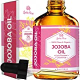 Jojoba Oil by Leven Rose, Pure Cold Pressed Natural Unrefined Moisturizer for Skin Hair and Nails, 4 Fl. ML