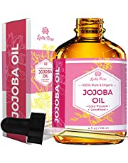 Jojoba Oil by Leven Rose - 100% Pure Cold Pressed Natural Unrefined Moisturizer for Skin Hair and Nails - 118 ml