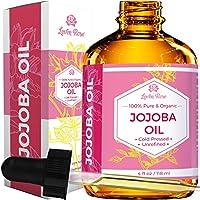 [Patrocinado] Aceite de jojoba de Leven Rose: 100% orgánico, natural, sin refinar y prensado en frío, de 4 onzaspara cabello, piel y uñas, 4U-BG76-6IYG, 1, 1