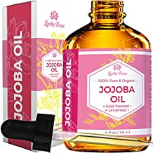 Jojoba Oil by Leven Rose, Pure Cold Pressed Natural Unrefined Moisturizer for Skin Hair and Nails 4 oz