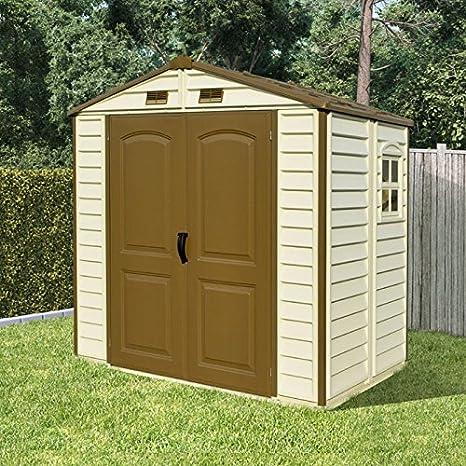 BillyOh diario Pro Apex con revestimiento de vinilo Kit de doble puerta cobertizo con base de plástico: Amazon.es: Jardín