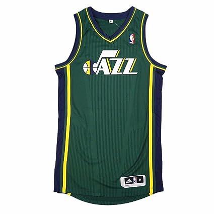 reputable site 34a65 6582c Amazon.com : adidas Utah Jazz NBA Green Official Authentic ...