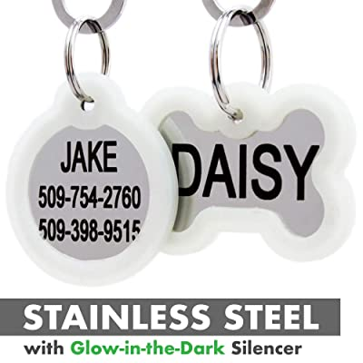 GoTags Personalized Dog Tags in Stainless Steel