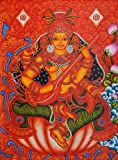 Goddess Saraswati - Kerala Mural