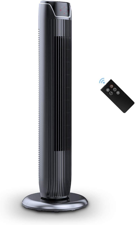 PELONIS FZ10-19JR Fan, 36 Inch Compact Black, Glossy Renewed