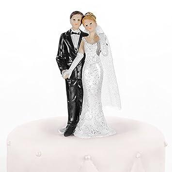 Hochzeitstortenfiguren Er Fuhrt Sie Links 11 Cm Tortenfiguren