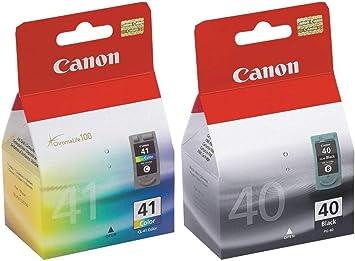 Amazon.com: Canon PG-40 y CL-41 cartucho de tinta Set Nuevo ...