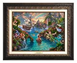 Thomas Kinkade Disney Peter Pan's Never Land 12'' x 16'' Canvas Classic (Aged Bronze)