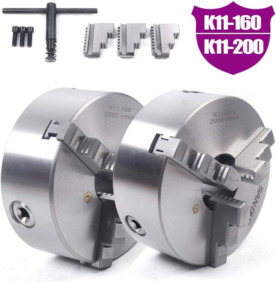 Armature manuelle de haute pr/écision CNC K11-160//200 mm Mandrin /à trois mors pour tour de table Mandrin triangulaire auto-centr/é