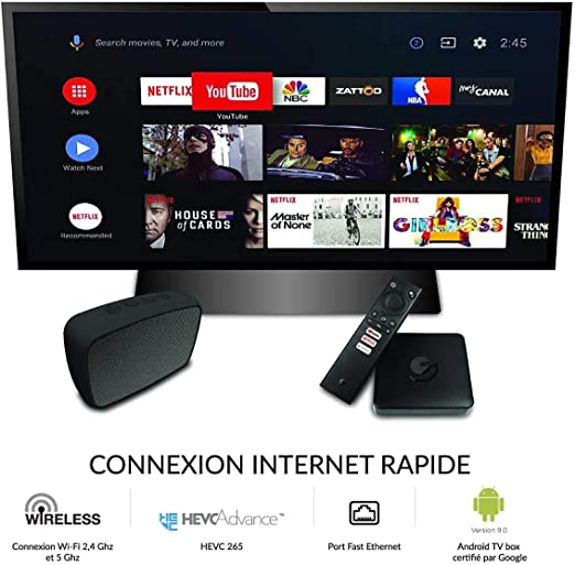 ematic SRT202 Ultra-HD 4K Android TV Box Incluye Cable HDMI [Google Playstore, Netflix, Disney+, Youtube, HDR10, USB, LAN, WLAN, Bluetooth]: Amazon.es: Salud y cuidado personal