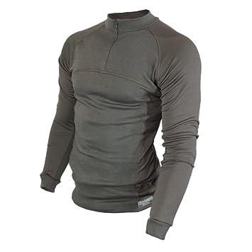Raptor Hunting Solutions lana de merino Thermal Ropa Interior Base Layer manga larga cuello de camisa