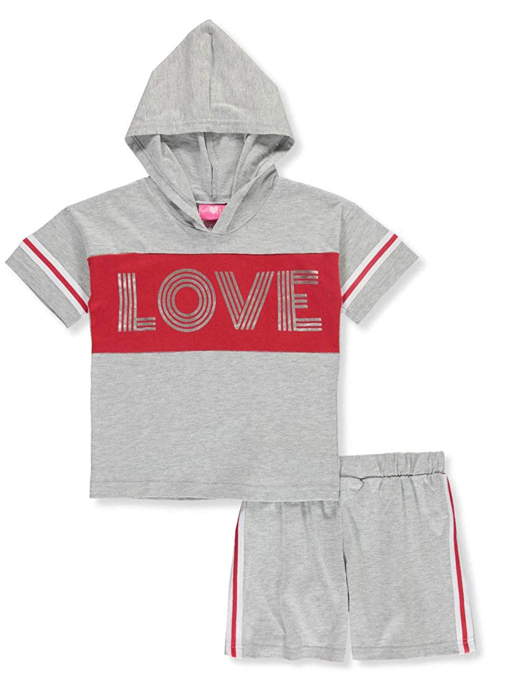 Girls Luv Pink Girls 2-Piece Shorts Set Outfit