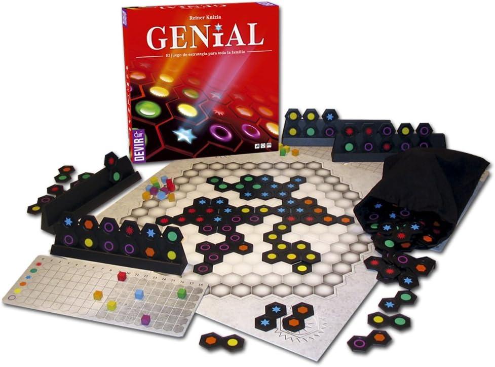 Devir - Genial, Juego de Mesa (BGENIAL): Knizia, Reiner: Amazon.es: Juguetes y juegos
