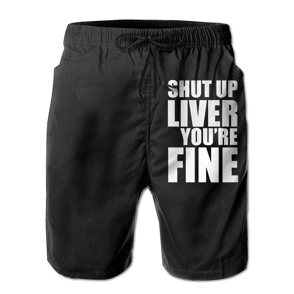 Shut up Liver Youâ€Re Fine Men's Lightweight Boardshorts Dry Fit Swimming Shorts with Pockets by UHT28DG (Image #1)