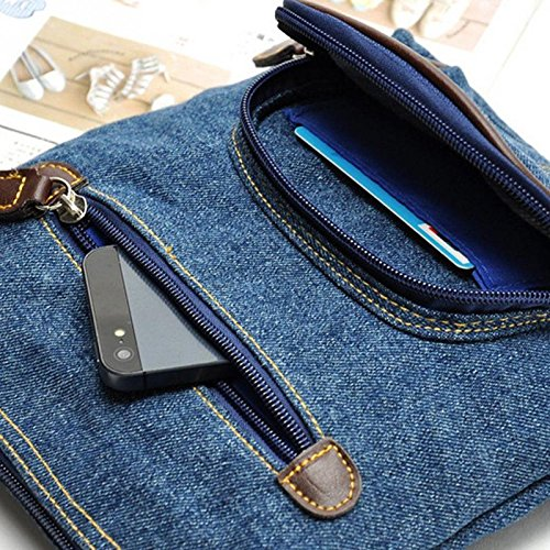 0bdc1ec2cf Amazon.com   JD Million shop Retro denim crossbody bag women handbags  casual zipper soft messenger small shoulder bags front pocket cowboy bags    Everything ...