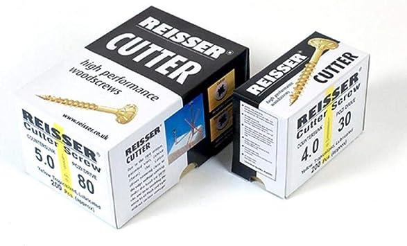 Reisser Cutter woodscrews screws 5mm pozi 200 Per Box TRADE SIZES cheap