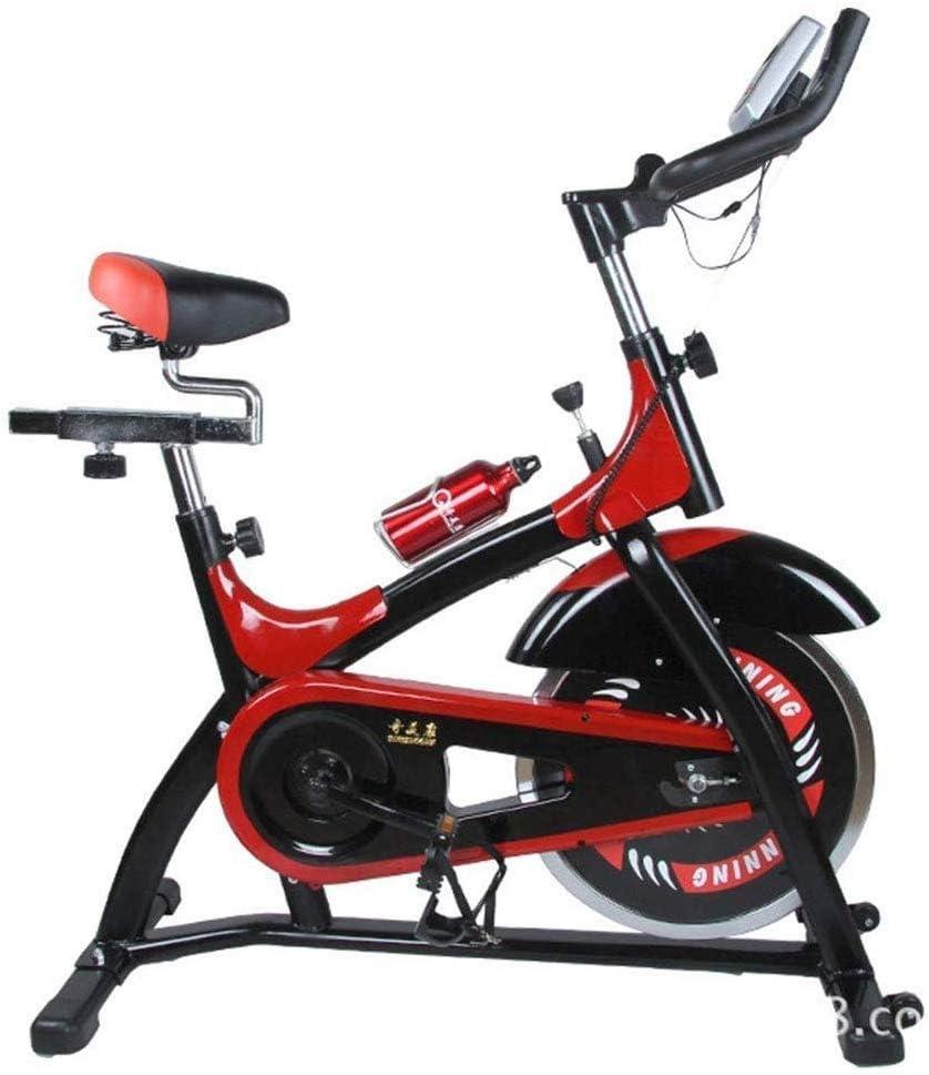 Bicicleta Estática de Fitness,Bicicleta Spinning Profesional con Monitor Multifuncional Ajuste de Resistencia,Ruido Bajo Bicicleta Gimnasio Sensores de Pulso en Manillar,Teniendo 200 kg de peso: Amazon.es: Deportes y aire libre