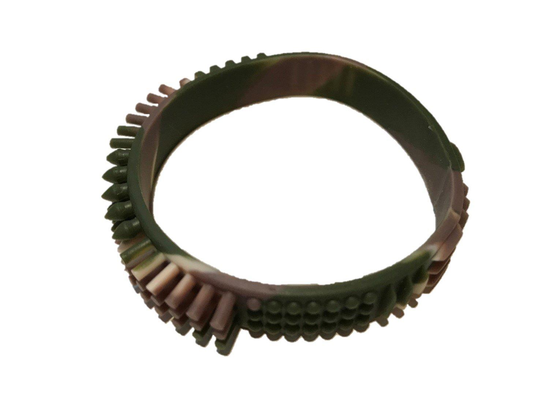 Large, Green Camouflage Fidgeto Sensory Fidget Bracelet
