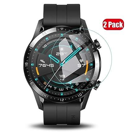Voviqi Protector de Pantalla para Huawei Watch GT 2 46mm, Cristal Templado Huawei Watch GT 2 46mm, Vidrio Templado Protector de Pantalla con [Alta ...
