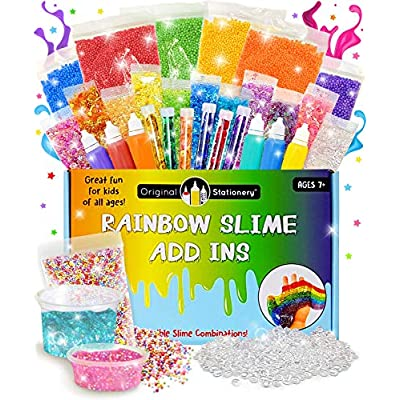 Original Stationery Bundle Includes: Unicorn Slime Kit with Rainbow Kit Add-ins, Slime Stuff for Girls Making Slime: Toys & Games
