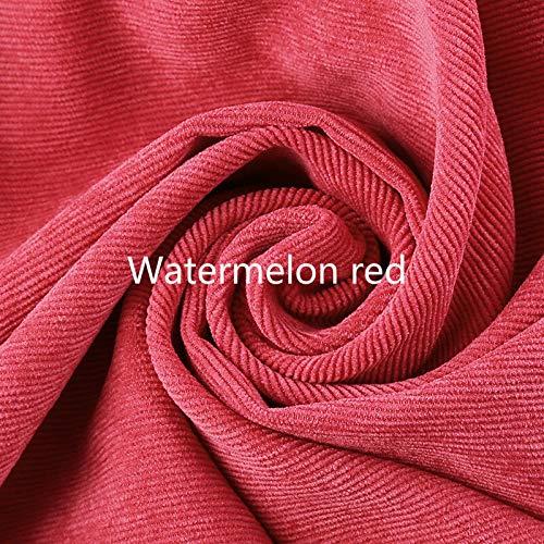 FidgetGearRetro Corduroy Fabric Striped Craft Upholstery Shirt Pants Curtain Cushion Cloth Watermelon -