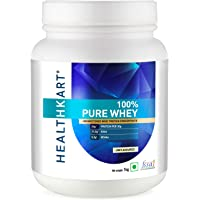 HealthKart 100% Pure Whey Protein Concentrate, 1 Kg/2.2 lb (Unflavoured)