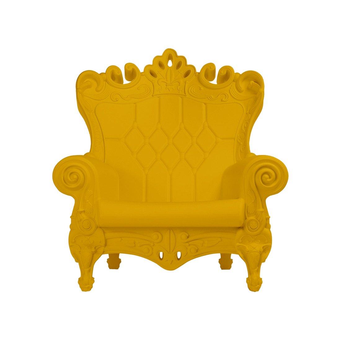 Design of Love - Slide Design - Little Queen of Love Baby armchair Saffron Yellow (Original made in Italy)