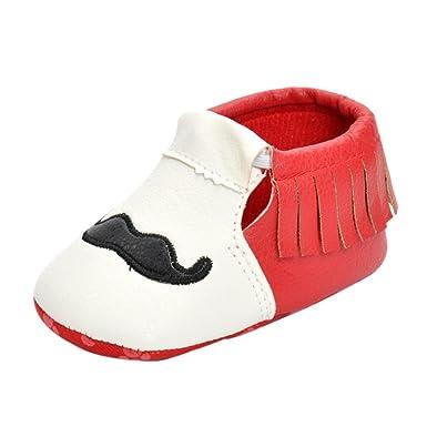 SamMoSon niño niña zapatillas de bebé antideslizante de encaje ...