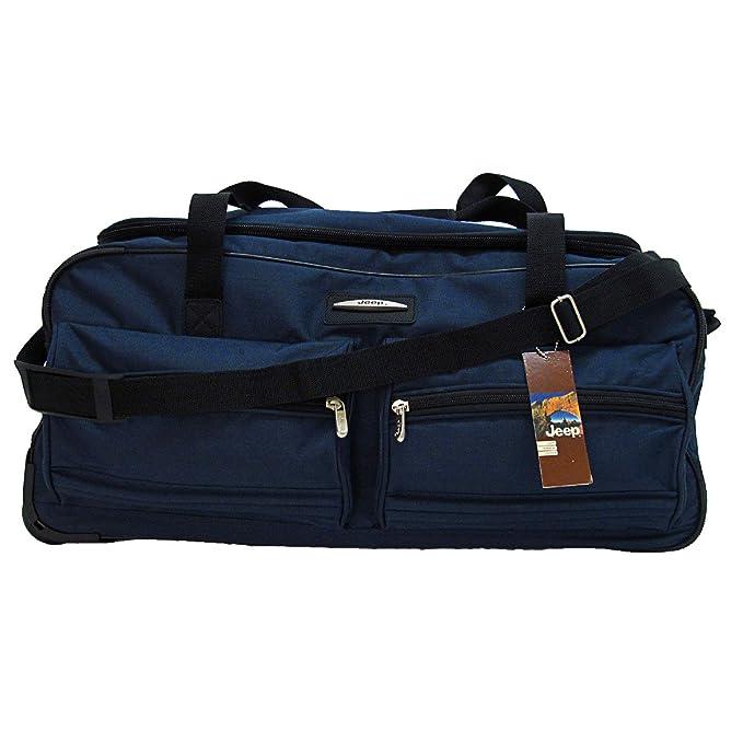 5a7cf5158a Jeep XXL Extra Large Wheeled Holdall Travel Bag (31 Navy)  Amazon.co.uk   Luggage