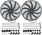 "American Volt Dual 16"" Inch Electric Fans 12v Auto Radiat..."