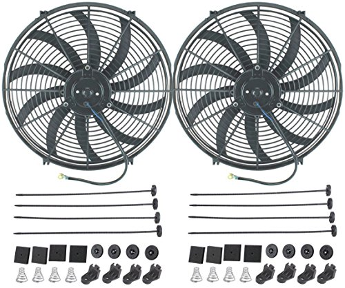 American Volt 12V Electric Radiator Cooling Fan Reversible High Performance Thermo Cooler Best CFM (16