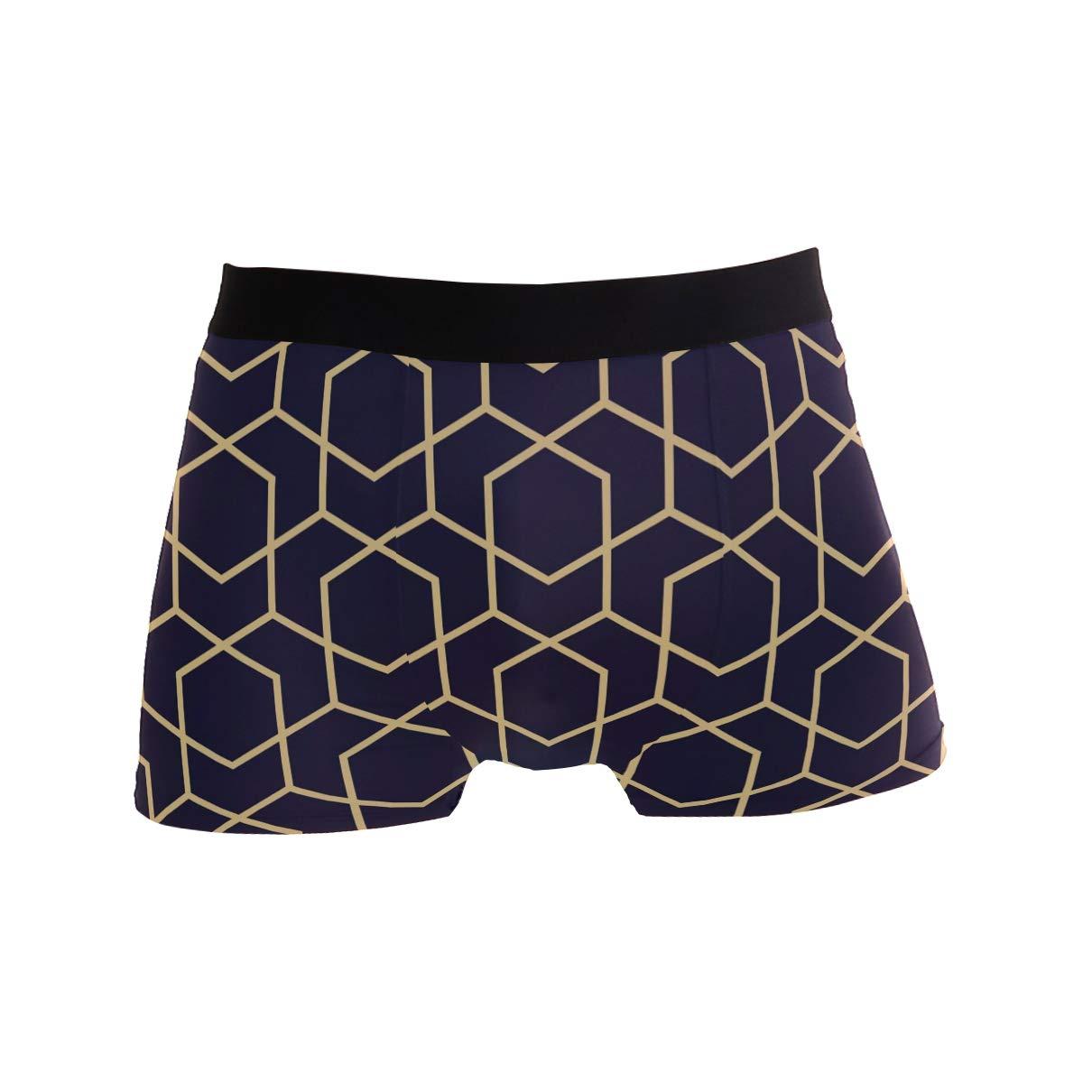 BETTKEN Mens Boxer Briefs Abstract Geometric Pattern Short Underwear Soft Stretch Underpants for Men Boys S-XL