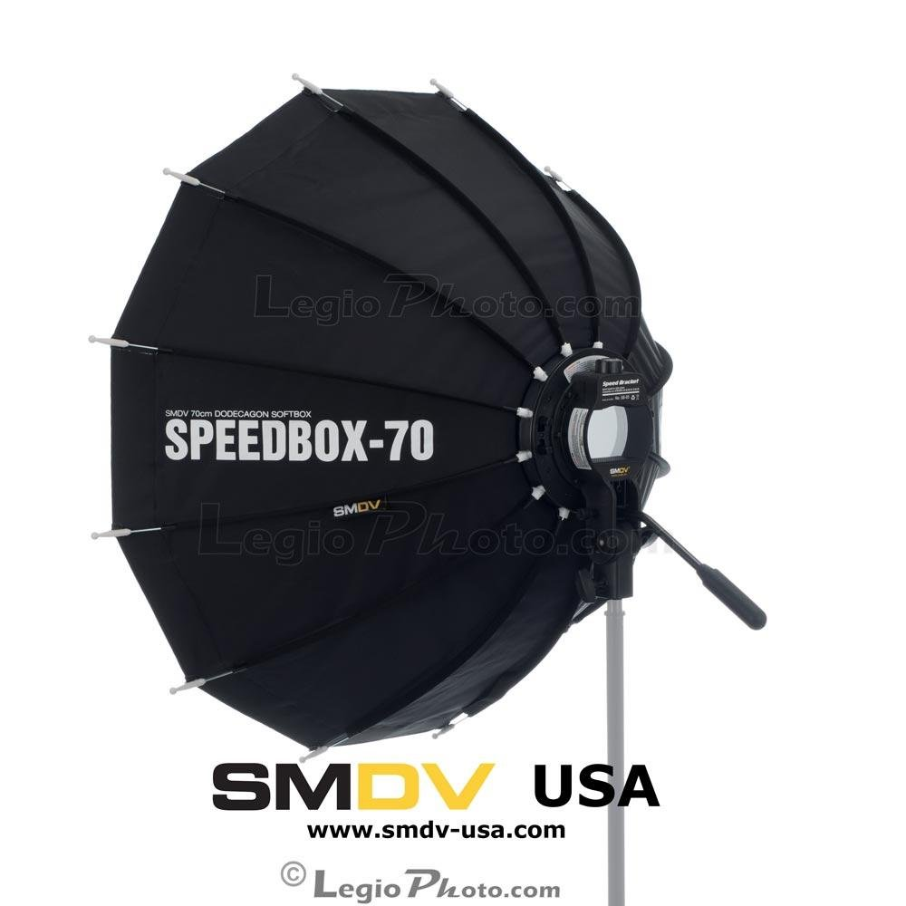 SMDV Diffuser SPEEDBOX-S70 - Professional 28-inch (70cm) Rigid Portable Quick Folding Dodecagon Softbox for Speedlight Flash - Legio Limited Edition by SMDV