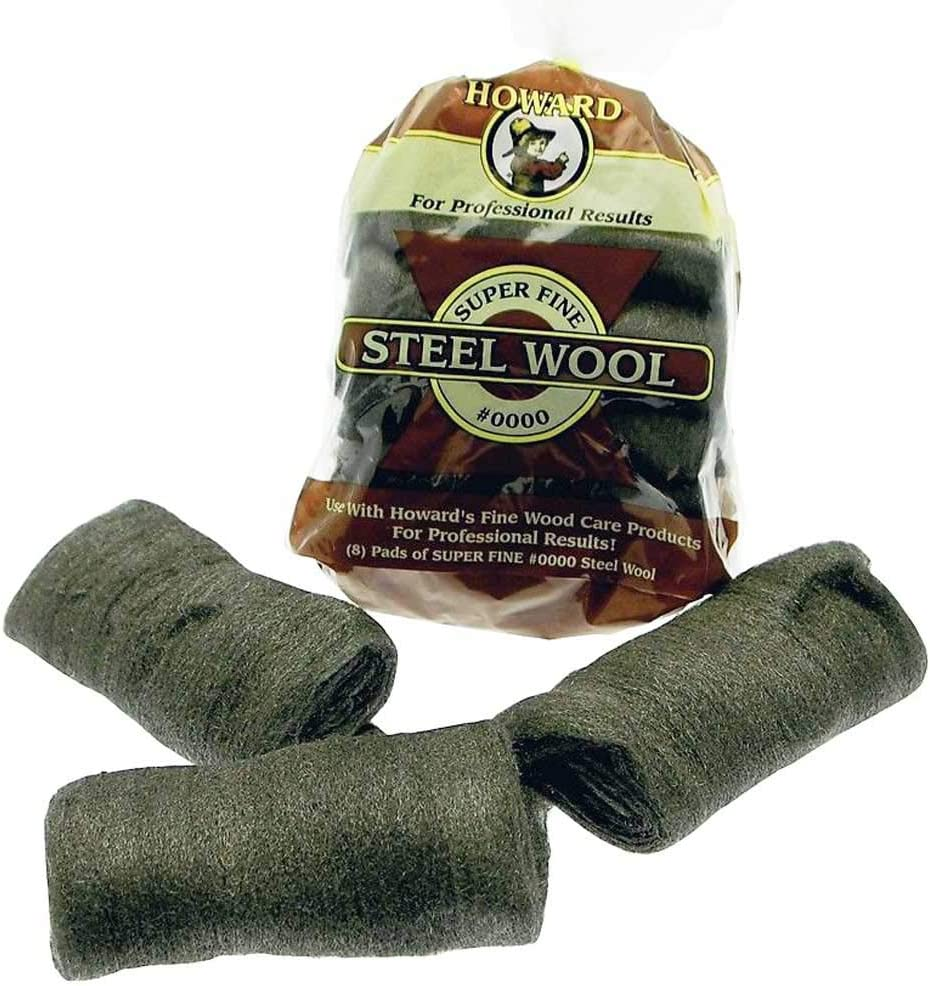 Howard 210493 STWL Grade 0000 Steel Wool 8Pk