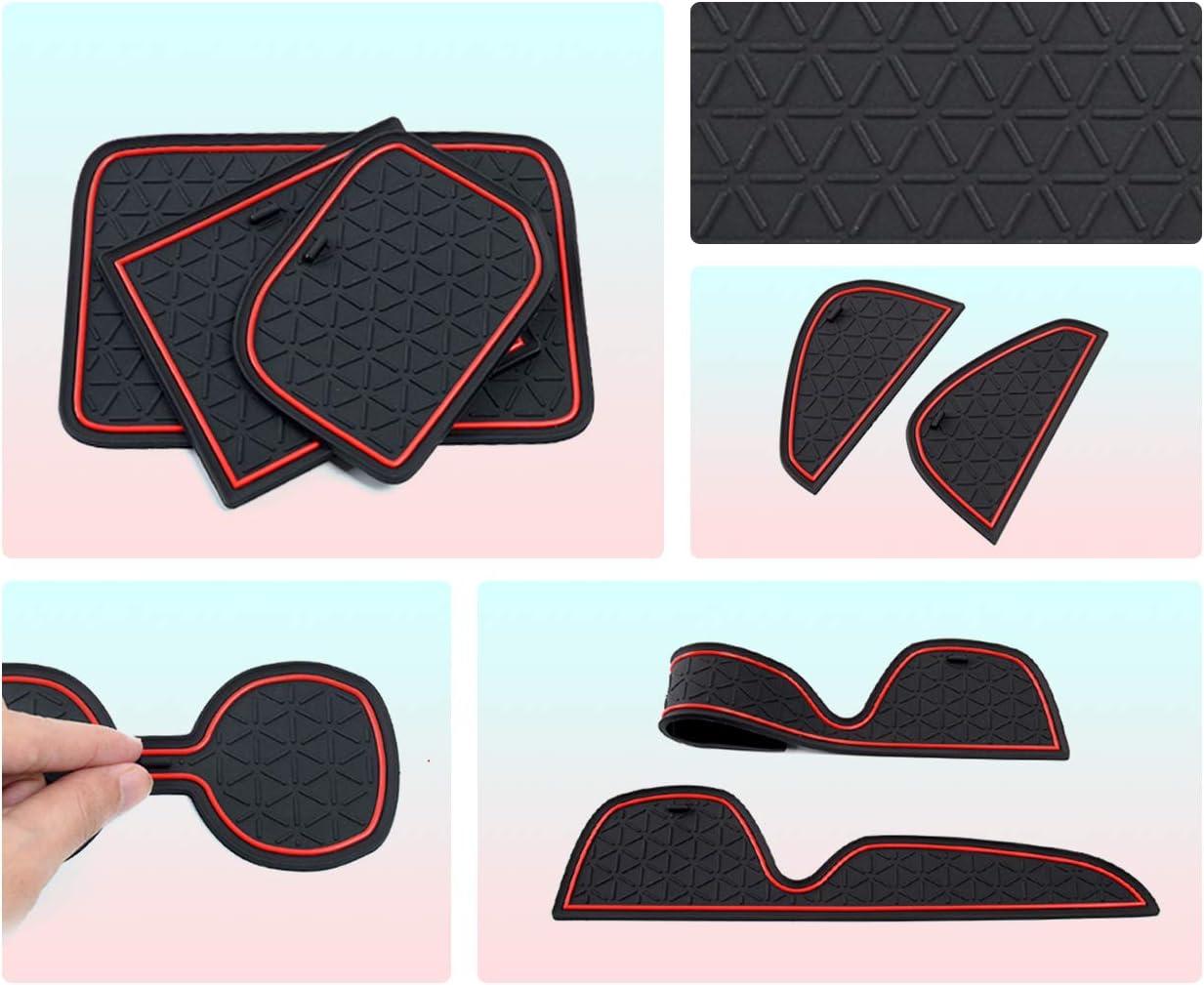 CDEFG pour RAV4 Accessoires Coupe Porte Int/érieure Tasse Bo/îte de Bras Tapis de Stockage Auto Tapis Anti-poussi/ère Antid/érapante RAV4 MK5 2019 Tapis Noir