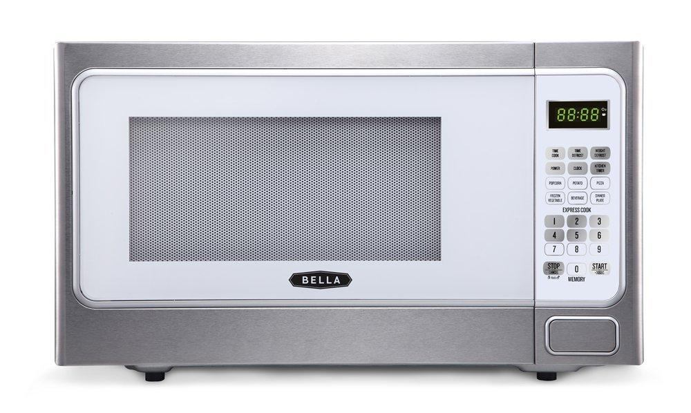 Bella BMO11ABTBKD 1000W Family-Sized Digital Microwave Oven, 1.1 cu. ft, Metallic Red