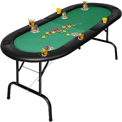 8 jugador Giantex plegable mesa de póquer Casino Texas Holdem ...