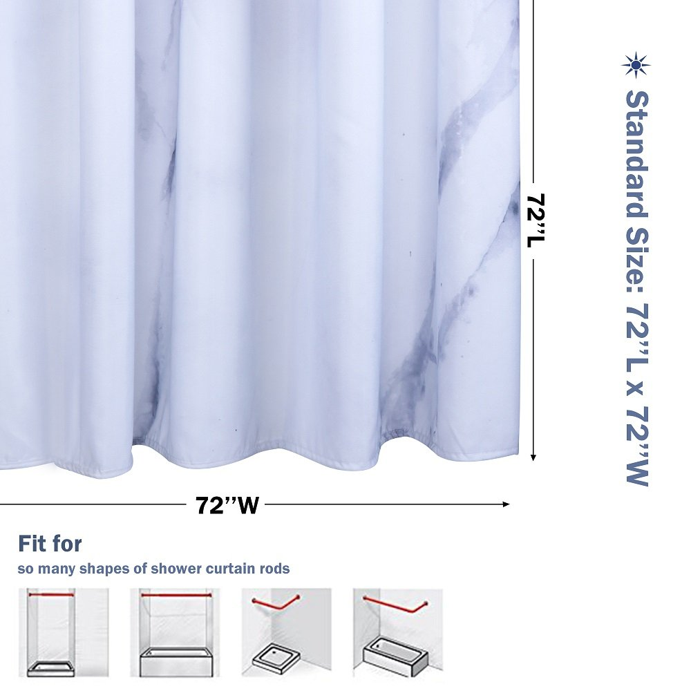Amazon.com: Uphome Wild Symbol Marble Pattern Bathroom Shower ...